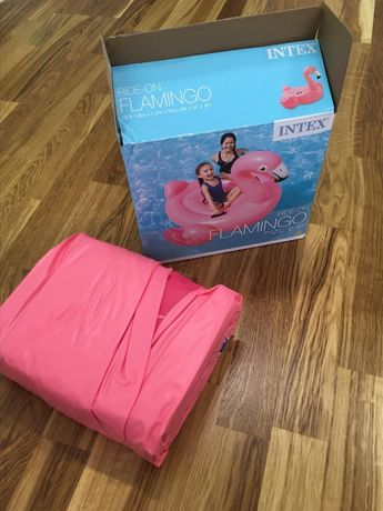 Надувной плотик Фламинго Intex +подарок(коврик) Матрас надувной круг