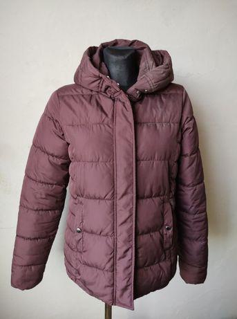 kurtka bordowa pikowana S