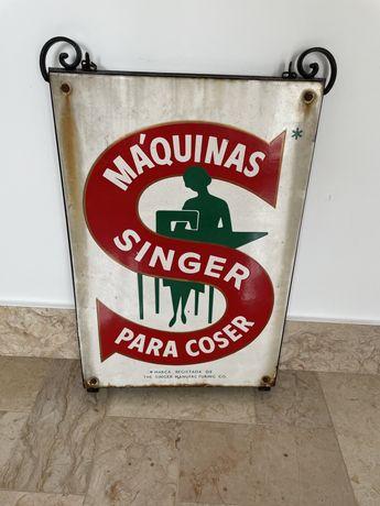 Placa Singer ( esmaltada)