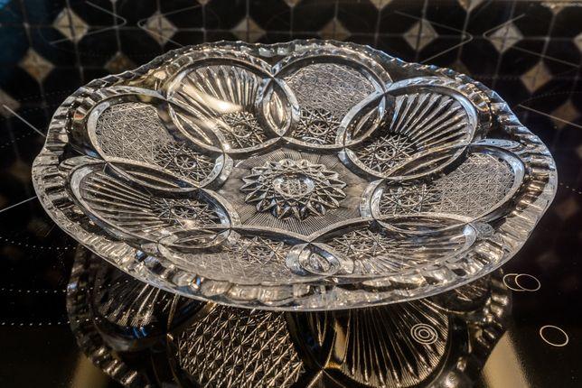 Хрустальная тарелка блюдо Чехословакия