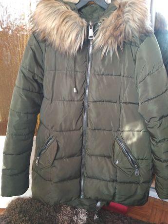 Płaszcz parka ciążowa lisek oversize