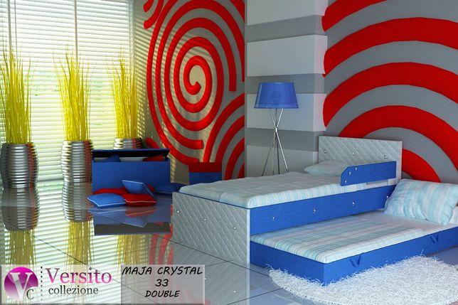 Łóżko piętrowe dla dzieci tapicerowane z kryształkami,dziecięce.Tanio