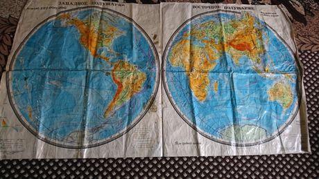 Карта школьная ссср .