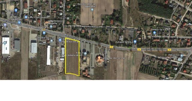 Działka teren usług U Konin Laskowiec 1,15 hektara przy ul.Jana Pawła