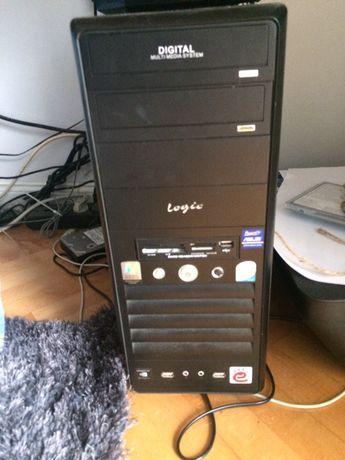 Zestaw komputerowy Logic 2 GB ram nagrywarka dvd samsung monitor