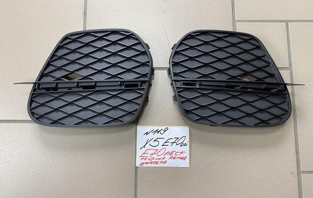 BMW X5 E70lci решітка переднього бампера бмв х5 е70 рестайл,решетки