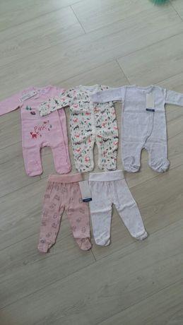 Wszystko nowe zestaw 5-10-15 pajace,pajacyki,ubranka roz68 dziewczynka