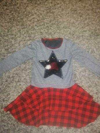 Платье для девочки 5-6 лет, новогодние, зимние
