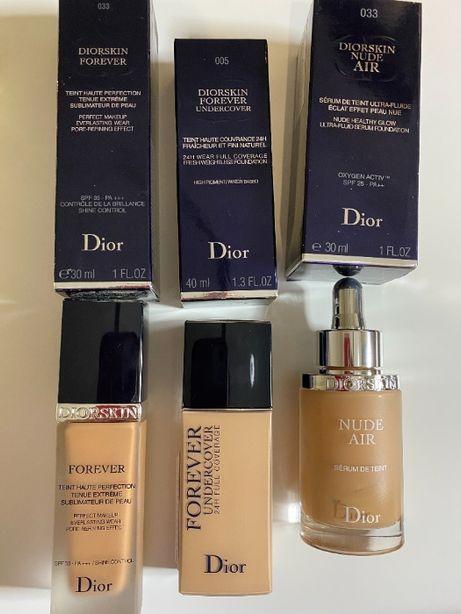 Dior тональный крем, пудра, румяна, тени, помада, блеск, тушь