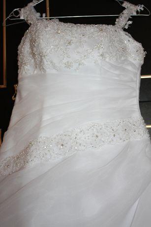 Suknia ślubna wiązana z regulacją