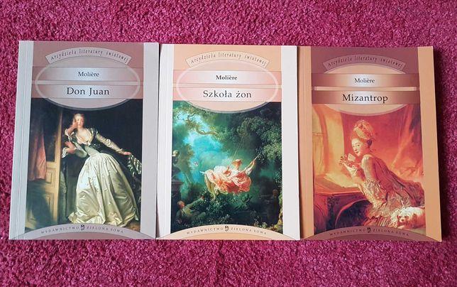 Moliere Mizantrop, Szkoła żon, Don Juan