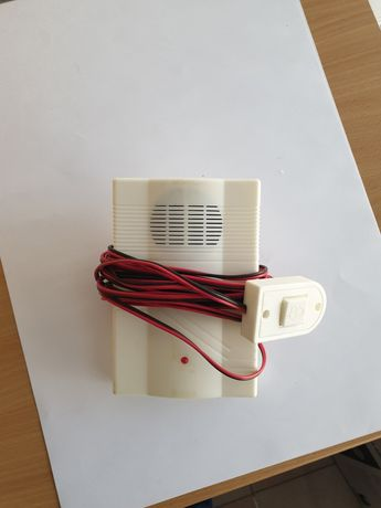 Campainha eléctrica com fio e interruptor
