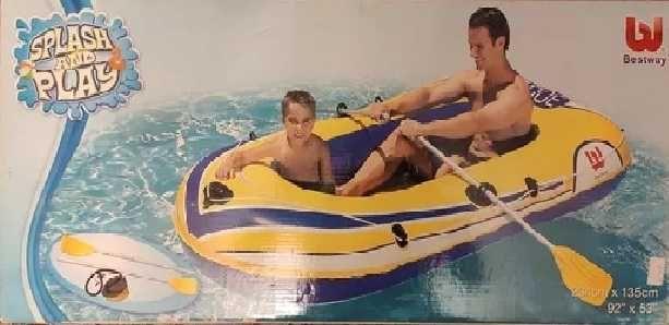 лодка надувная резиновая 2-х местная