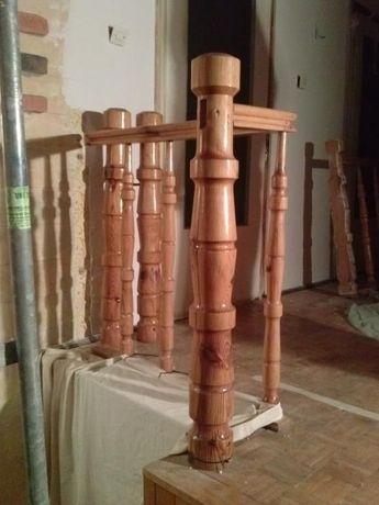 Balustrada drewniana, kompletna