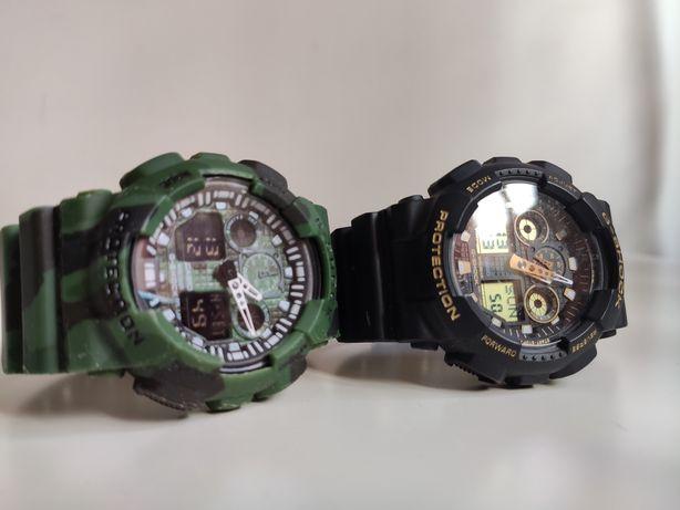 Casio G Shock GA 100, 2 relógios, original e réplica