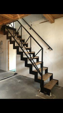 SCHODY metalowe drewniane industrialne loft NOWOCZESNE