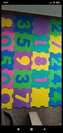 Mata edukacyjna - puzzle 2 komplety