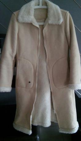 Plaszcz z kożuszkiem XS