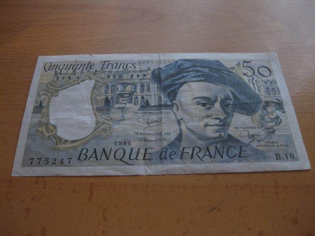 """Nota de França """"50 Francs"""" MBC"""