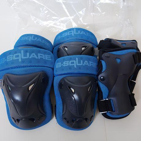 Ochraniacze B-SQUARE rolki hulajnoga protektory rozmiar 8-12 lat