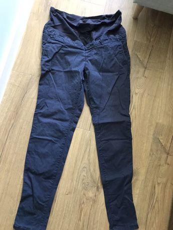 Spodnie ciążowe h&m L 40 granatowe materiałowe