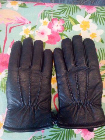Перчатки кожаные, с мехом, размер 10,5.