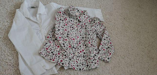 Bluzeczki eleganckie koszule dziewczynka 5-6lat