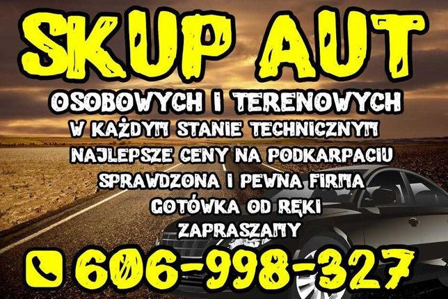 Skup aut z woj Podkarpackiego, dobre ceny,