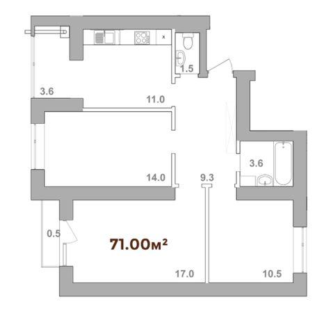3 кімнатна квартира від надійного забудовника. Можливе розтермінування