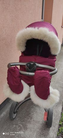 Stokke xplory v4 прогулянка+аксессуари і зимовий комплект