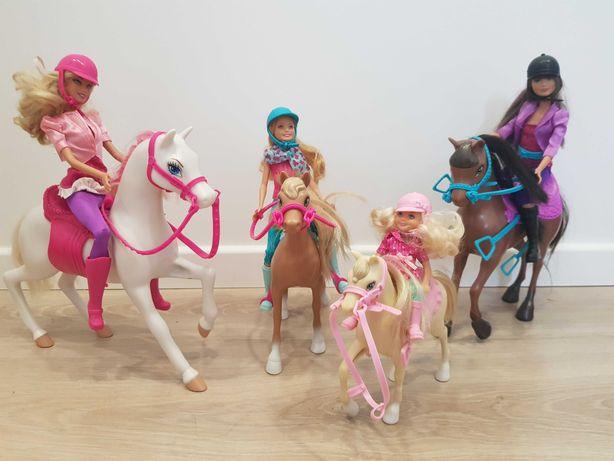 Lalki Barbie z koniami