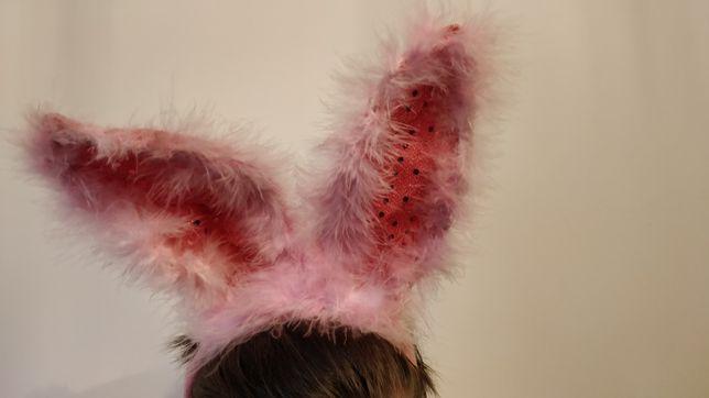 Opaska uszy królika bal przebierańców