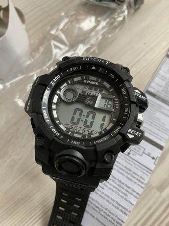 Спортивные часы Synoke Sport мужские чорные большие часы