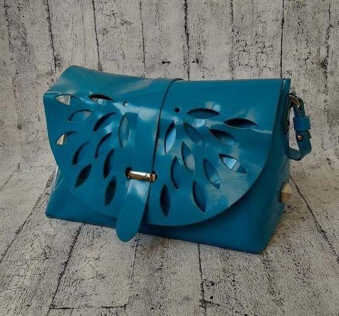Летняя сумочка кроссбоди из натуральной кожи