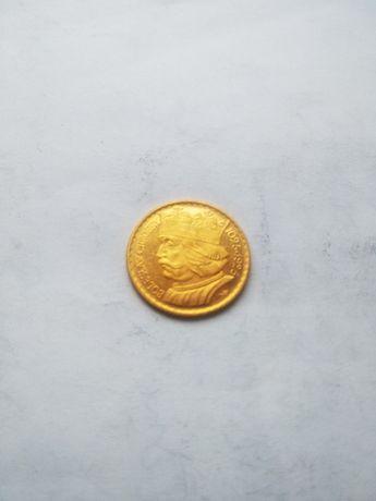 Moneta--10zł--Chrobry--1925--złoto--