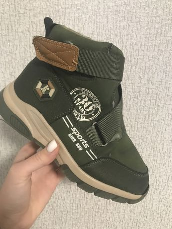 Зимние ботинки для мальчика на овчине