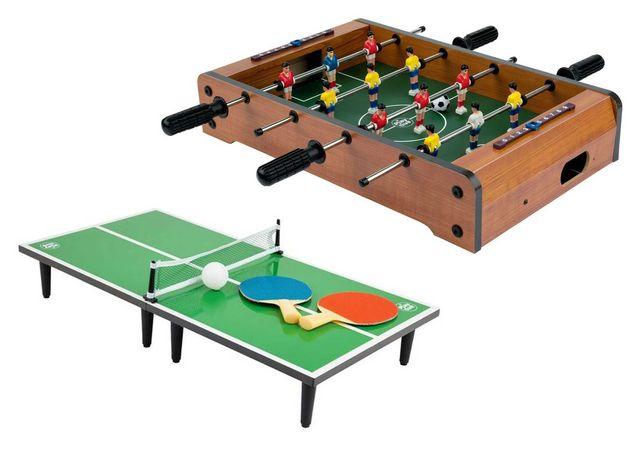 Zestaw mini gier stołowych piłkarzyki  i mini tenis stołowy