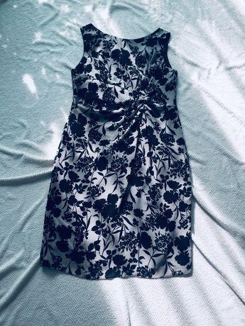 Gina Bacconi sukienka w kwiaty 44 XXL