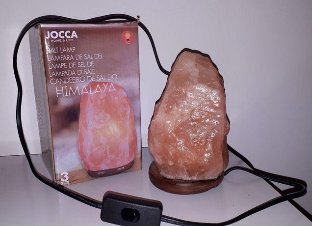 Candeeiro de Sal do Himalayas na caixa