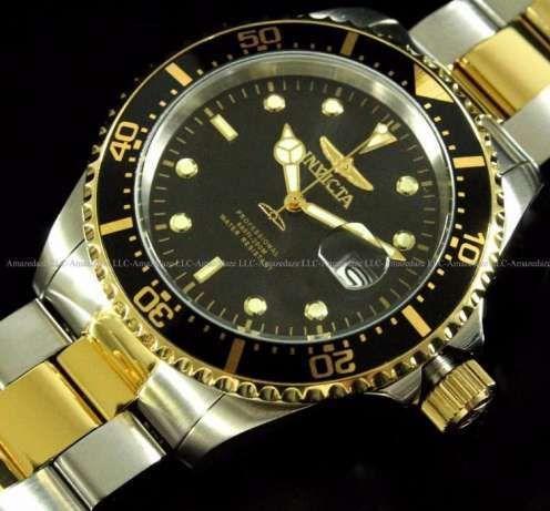 Invicta Pro Diver 43mm новые часы японский кварц 18К позолота $395