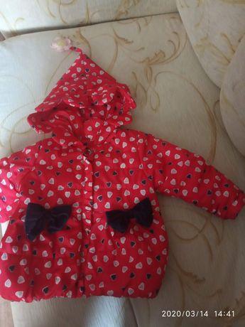 Продам осеннюю курточку на девочку, размер 86-92