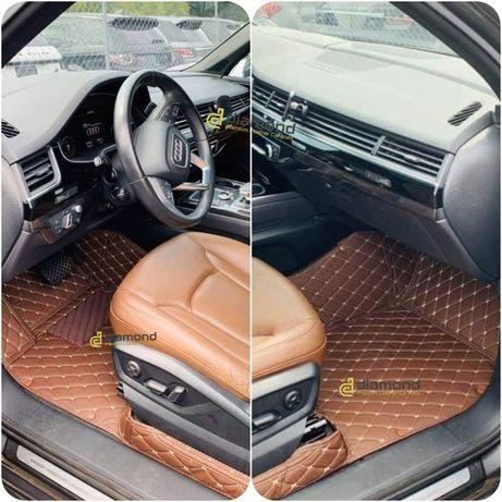 Коврики Audi Q5 Q7 A6 C6 C7 A7 эко кожа