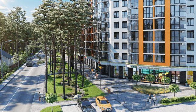 1к квартира ЖК На Прорезной 2. Малоэтажный дом. Сосновый лес