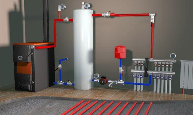 Установка, котлов, монтаж систем отопления.