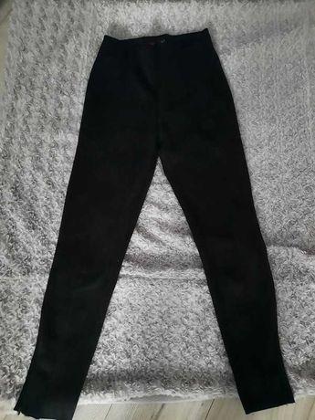 Spodnie damskie zamszowe