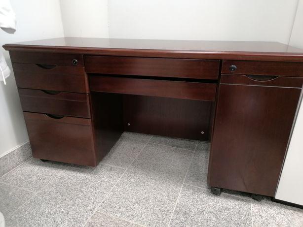 Drewniany sekretarzyk, biurko  122x48x65