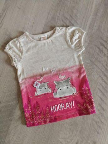 Нарядная хлопковая футболка Джимбори gymboree бегемотики