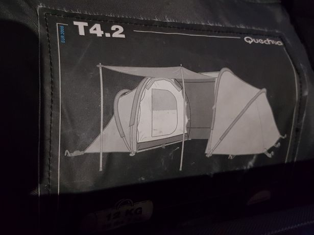 Tenda T2 + 1 saco de cama individual.