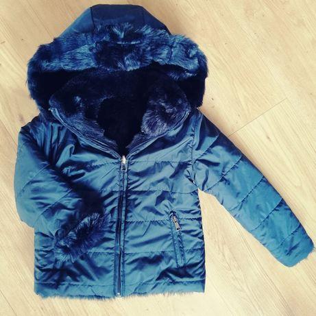 Zimowa dwustronna kurtka kożuszek, capricciosa by tandem, 110, granato