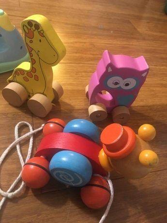 Drewniane zabawki zwierzątka